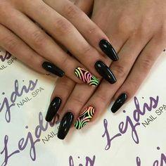 SPN UV LaQ 503 Black Tulip + sugar effect Nails by Ania, Lejdis NailSpa #paznokcie #nails #spnnails
