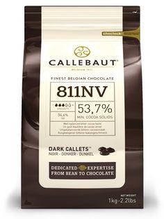 Callebaut, 53% dark chocolate couverture chips