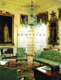 Classic 2 volume English country house estate sale Country house designed by the Adam Brothers furnished by Thomas Chippendale owned by the Earls of Bute