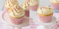Buttercream flowers in different patterns on cupcakes Frost Cupcakes, Buttercream Cupcakes, Buttercream Recipe, Buttercream Flowers, Decorate Cupcakes, Vanilla Cupcakes, Flower Cupcake Cake, Cookies Cupcake, Flower Cupcakes