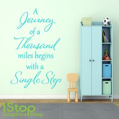 A JOURNEY OF A THOUSAND MILES WALL STICKER QUOTE - WALL ART DECAL X123