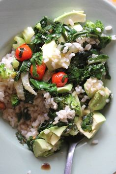 gluten free rice, quinoa and vegetable breakfast rosalindentree Gluten Free Rice, Cobb Salad, Quinoa, Broccoli, Good Food, Vegetables, Eat, Breakfast, Veggies