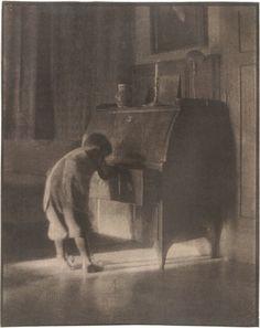 Heinrich Kühn: Hans with Bureau, 1905; from Heinrich Kühn: The Perfect Photograph,