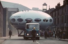'We caught a UFO' … Todmorden, West Yorkshire, meets the Futuro in Ufo Footage, Retro Futuristic, Futuristic Bedroom, Ski Chalet, Moving Day, Atomic Age, West Yorkshire, Yorkshire England, To Infinity And Beyond