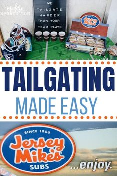Football season is in full swing and that can only mean one thing….TAILGATING!  Whether you party in the parking lot, or in the backyard, remember, for the most fun, keep it simple. Good food, and a quick set-up, that is definitely the way to go! Tailgating Made Easy With Jersey Mikes #tailgating #tailgatingrecipes