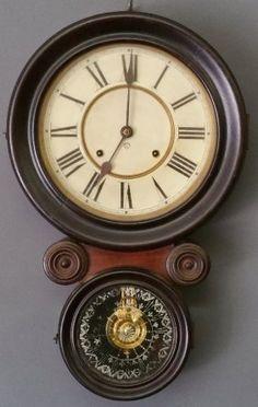 Ansonia Rosewood Wall Clock, Late 19th Century.  21 ½