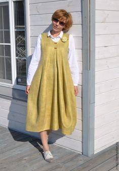 """Купить валяное платье-сарафан """"Lagenlook"""" - платье, платье валяное, платье авторское"""