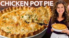 Creamy Shrimp Pasta Recipe (VIDEO) - NatashasKitchen.com Kitchen Recipes, Pie Recipes, Cooking Recipes, Best Homemade Chicken Pot Pie Recipe, Chicken Recipes, Salmon Patties Recipe, Chicken Chow Mein, Lemon Chicken, Cooked Chicken