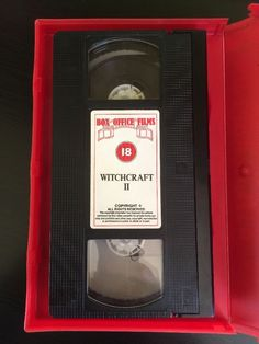 Rare, Witchcraft part 2 - The Temptress (Witchcraft II), ex-rental, big box, pre-Brexit, horror, PAL VHS video, Box Office Films Ltd (Colourbox, Hollywood Producers Club, Mega Communications and BCB) @ialocinnicolai 3