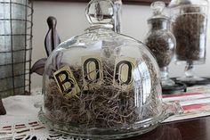 Glass Cloche Halloween decoration