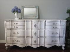 love this french provincial dresser for my entry table