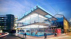 Estudio AL_A desarrolla una serie de campos de fútbol diseñadas para ser instaladas en lugares abandonados o temporalmente vacantes, en Londres y en otras ciudades a nivel internacional.