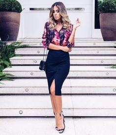 Idéias de looks para trabalhar que vão do escritório e ao happy hour com aquele ar de mulher chiquérrima, poderosa e bem sucedida! #blogdemoda #encantosmodas #lookdodia