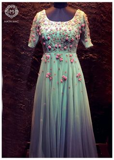 Whatsapp on 9496803123 to customise handwork sarees dresses bridal sarees blouses lehenga gowns etc Indian Gowns Dresses, Indian Fashion Dresses, Dress Indian Style, Indian Designer Outfits, Designer Gowns, Indian Outfits, Fashion Outfits, Fashion Wear, Gown Party Wear
