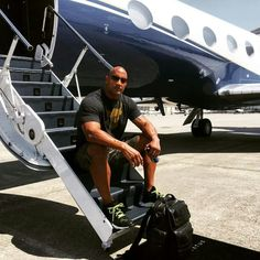 Dwayne Johnson before going to the Baywatch set