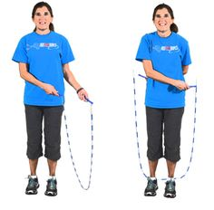 Step-by-step explanations and demonstrations of basic jump rope skills and tricks, including the the skier, the criss cross, the scissors and more. Jump Rope Games, Jump Rope Workout, Cut Out People, Pe Ideas, Skipping Rope, Kettlebell, No Equipment Workout, Diet Tips, Workout Programs