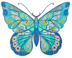 Butterfly, coloring book Magical Jungle, Johanna Basford