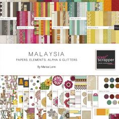 Malaysia Bundle by Marisa Lerin   Pixel Scrapper digital scrapbooking