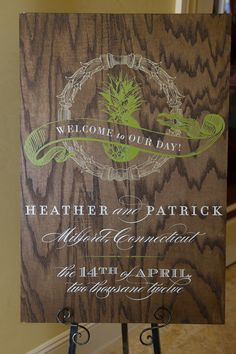 Gorgeous welcome sign that correlated with the invitation