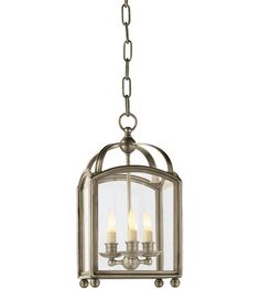 Visual Comfort CHC3420AN E.F. Chapman Arch Top 3 Light 8 inch Antique Nickel Foyer Pendant Ceiling Light #visualcomfort #lightingnewyork #lighting