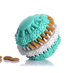 Rubber Ball Chew Treat Dispensing Holder Pet Dog Puppy Cat Toy Training Dental ~~ You can read more at the image link. (This is an affiliate link and I receive a commission for the sales) Dog Chew Toys, Cat Toys, Dog Snacks, Dog Treats, Pet Dogs, Dog Cat, Pets, Funny Puzzles, Pet Food Container