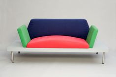 Marco Zanini, Dublin (sofa), 1981. Plastic laminate, metal, and synthetic fabric. Private collection, courtesy Dixon Gallery and Gardens