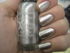 Sally Hansen Hard As Nails Xtreme Wear, Celeb City, Fluid Oz, 2 Ea -- Details can be found by clicking on the image. (This is an affiliate link and I receive a commission for the sales) Silver Nail Polish, Nails Now, Sally Hansen Nails, Minx Nails, Nail Polish Collection, Beauty Shop, Beauty Nails, Pretty Hairstyles, Nail Care