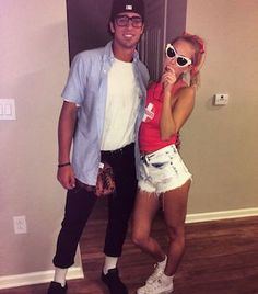 75 Easy DIY Couples Halloween Costumes - Prudent Penny Pincher From movie and tv show themed costumes to scary and funny costumes, there are nearly a hundred DIY couples Halloween costumes to choose from. Easy Couple Halloween Costumes, Easy Couples Costumes, Cute Couple Halloween Costumes, Cute Halloween Costumes, Halloween Diy, College Couple Costumes, Halloween Costume Couples, Couple Costume Ideas, Sorority Halloween Costumes