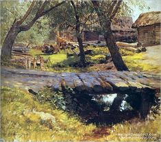 'Footbridge', by Isaac Levitan.