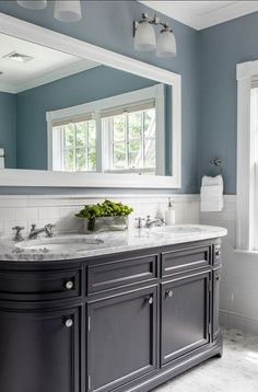 Best Bathroom Wall Colors blue gray paint is the perfect wall cover to add a neutral, spa