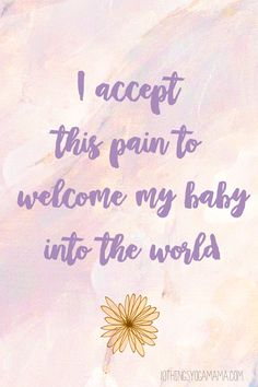 12 Birth Affirmations That Gave Me Strength Positive birth affirmations truly can play an inspiring and invaluable role during labor and delivery. Here are some of the encouraging, empowering, or just plain and simple words that I thought or… Pregnancy Affirmations, Birth Affirmations, Positive Affirmations, Pregnancy Labor, Pregnancy Quotes, Pregnancy Cravings, Baby Quotes, Pregnancy Cartoon, Pregnancy Classes