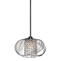 Anastasia Chrome One-Light 13-Inch Wide Dome Pendant