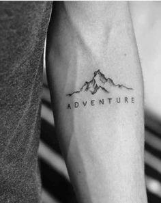 40 fabelhafte Berg Tattoo Designs - New Ideas Small Tattoos Men, Small Tats, Small Forearm Tattoos, Small Meaningful Tattoos, Forearm Tattoo Men, Trendy Tattoos, Tattoo Guys, Tatoos Men, Tatto For Men
