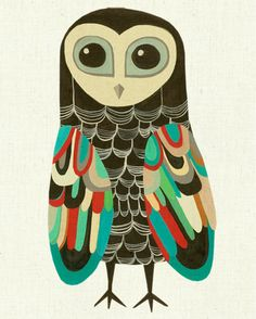 Wise owl with great colours