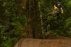 Kyle Norbraten sending it on 'Flight Deck' at the opening of the Coast Gravity Park in BC.  Photo by - Fraser Britton.