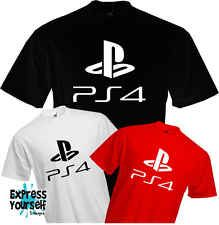 PS4 - PLAYSTION 4 - T Shirt, Logo, Gaming, Present, Fun, Cool, Quality, NEW