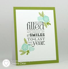 handmade birthday card ... one layer ... luv that the focal point is this delightful sentiment ... Paper Trey Ink ...