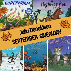 I just love Julia Donaldson books. and kids do too. So it was a no-brainer when choosing my September Giveaway. Answer one simple question to enter. Picture Books, Kids And Parenting, Competition, September, Author, Activities, Giveaways, Wines, Fun