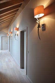 taupe corridor with heathfield walllamps Wall Lamps, Wall Lights, Corridor, Geneva, Contemporary, Modern, Taupe, Interior Design, Lighting