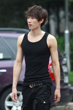 Hyukjae ♥ I love it when he wears the wife-beaters *.*