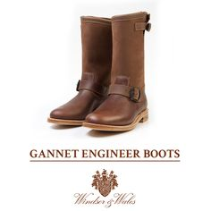 The GANNET leather and nubuck boots. The sole is Goodyear-welted leather and features a engraved Windsor & Wales crest.