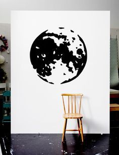Ways to cover-up walls: Picture of a wall with a picture of the Earth made out of tape