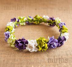 Corona de flores para el pelo Violet Garden