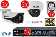 Zestawy monitoringu 4-kamerowy ZESTAW do monitoringu IP 4K UHD 8MPIX - KOMPLEKSMEDIA.PL