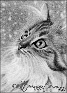 Let it snow   ACEO by Katerina-Art.deviantart.com on @DeviantArt