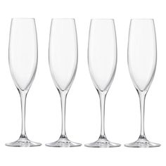 LSA International LSA Uno Champagne Flute Set Of 4