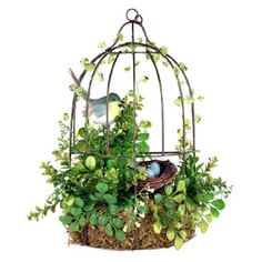 Would be cute on the porch.  Two adorable lovebirds perch on a simple branch in this delightful and artistic accent piece, with pretty mosaic-style wings in bright blue and green hues with vibrant pops of pink.