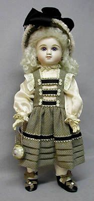 I love this dress made from an 1885 Delineator illustration...BUT I HAVE ALWAYS HATED DOLLS... look at those eyes! OMG!