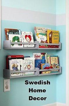 4 FOUR IKEA Spice Jar Rack WOODEN Magazines Books Holder Wall Shelf NEW Bekvam