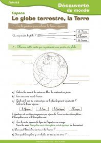 A simple document for – students to discuss work on the globe and the Earth - Science For Kids, Earth Science, Science Nature, Science Education, Science Activities, Teaching French, Teacher Hacks, Social Studies, Core French